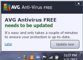 AVG Antivirus FREE update