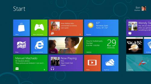 Windows 8 new tiled Start interface